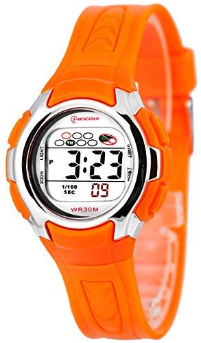 Kleine digitale Mingrui Armbanduhr fuer Damen und Kinder Alarm Stoppuhr Licht 0258 MR 7