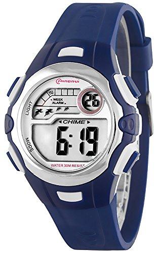 Digitale kleine MINGRUI Armbanduhr fuer Damen und Kinder Alarm Stoppuhr Datum P74G10H 3