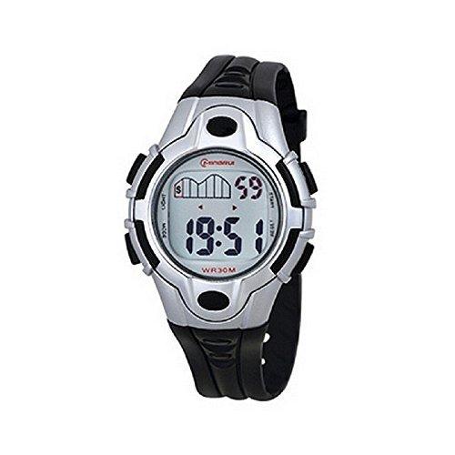 Zeigt Kinder Quartz schwarz K218 Sport Chrono Alarm Wasserdicht