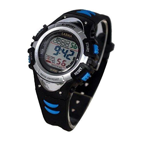 Mingrui digitale Quarz Chronograph sportlich Alarmfunktion wasserdicht blau 2