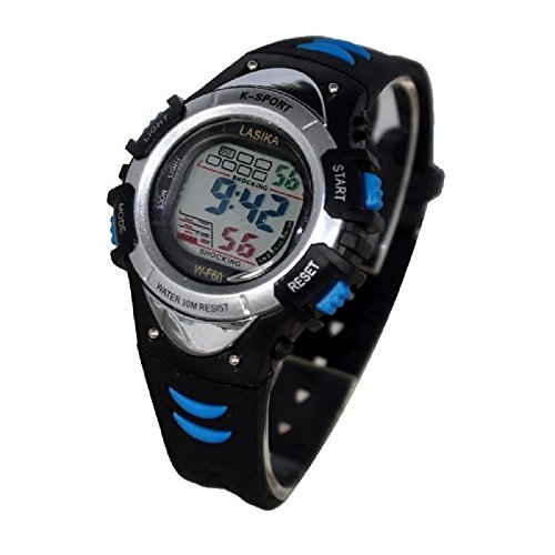 Mingrui digitale Kinder Armbanduhr Quarz Chronograph sportlich Alarmfunktion wasserdicht blau