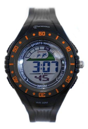 Waooh Uhr MingRui LCD 8020 Schwarz Orange