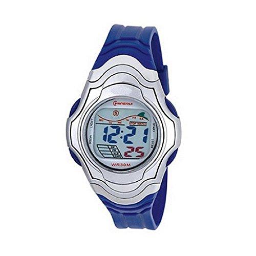 Zeigt Damen Quartz Digitale blau Sport Chrono Alarm Wasserdicht