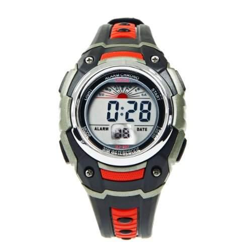 Modische Herren Armbanduhr LCD CHRONOGRAPH DATE mit aktuellem Kautschukband