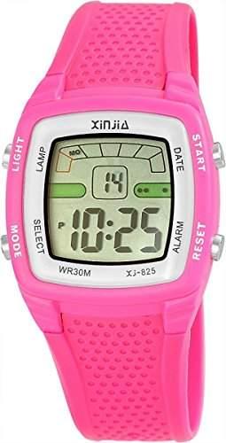 Xinjia Herren Digitaluhr Pink