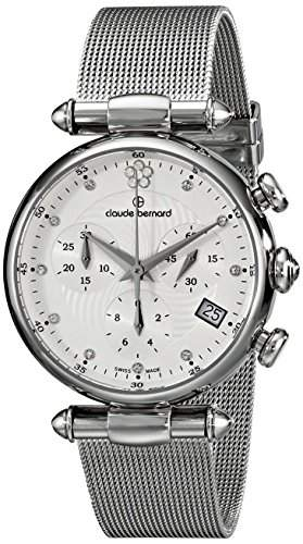 Claude Bernard 10216 3 APN2 Uhr Edelstahl silber Chronograph