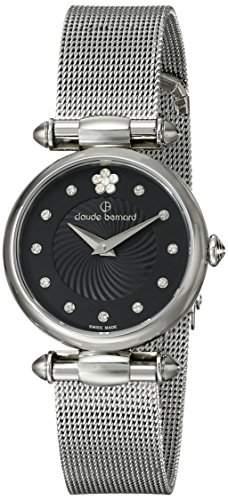 Claude Bernard 20500 3 NPN2 Uhr Edelstahl silber schwarz