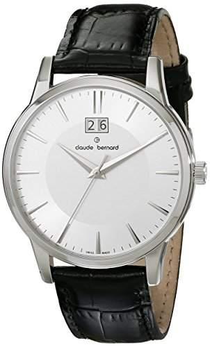 Claude Bernard Sophisticated Classics Herrenuhr mit Grossdatum 63003 3 AIN
