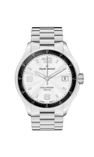 Claude Bernard Herren 70167 3 AIN Aquarider Silver Dial Stainless Steel Date Uhr