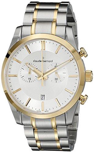 Claude Bernard SWISS Chronograph Kleid Uhr mit Saphirglas 10104 357j aid2