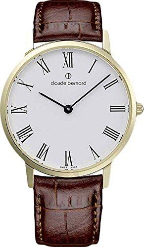Claude Bernard Sophisticated Classics elegante 36mm Armbanduhr 20206 37J BR