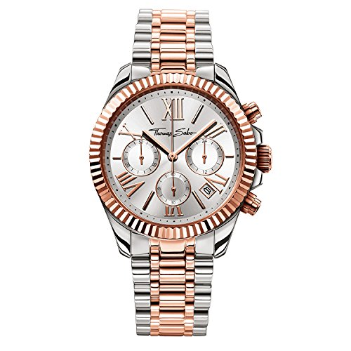 Thomas Sabo Watches Chronograph Quarz Edelstahl beschichtet WA0221 272 201 38mm