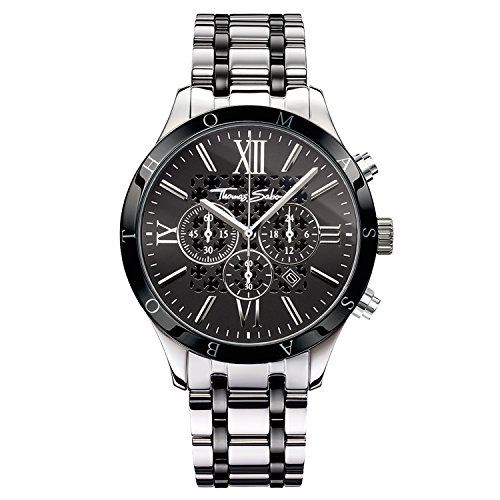 Thomas Sabo Watches Chronograph Quarz Edelstahl beschichtet WA0139 222 203 43mm