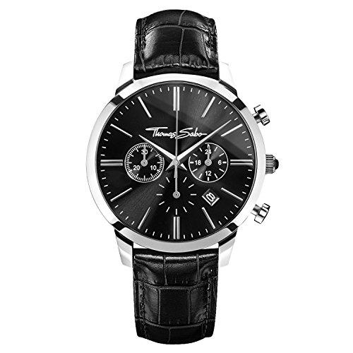 Thomas Sabo ETERNAL CHRONO Black Chronograph Quarz Leder WA0242 218 203 42 mm