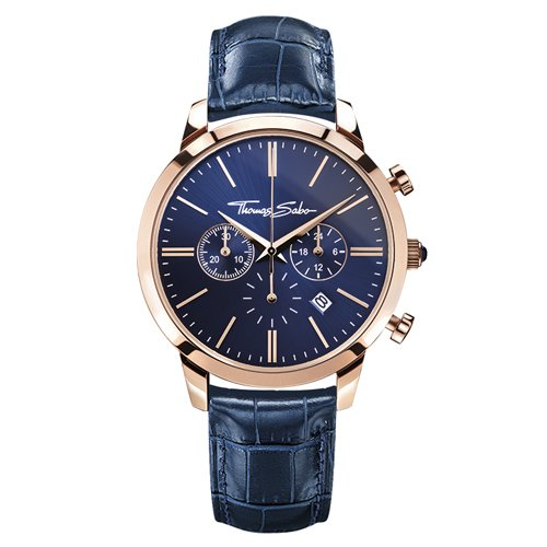 Thomas Sabo ETERNAL CHRONO Blue Rose Chronograph Quarz Leder WA0243 270 209 42 mm