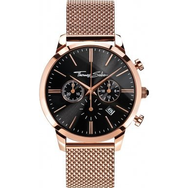 Thomas Sabo ETERNAL CHRONO Mesh Rose Chronograph Quarz Edelstahl WA0246 265 203 42 mm
