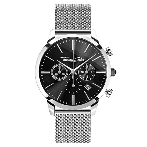 Thomas Sabo Herren Armbanduhr Watches Chronograph Quarz Edelstahl WA0245 201 203 42mm