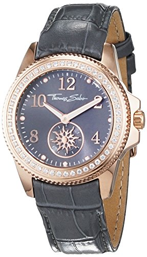 Thomas Sabo Damen Armbanduhr Analog Quarz Leder WA0239 274 210 33 mm