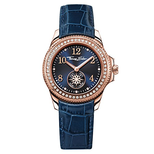 Thomas Sabo Damen Armbanduhr Watches Analog Quarz Leder WA0216 270 209 33mm