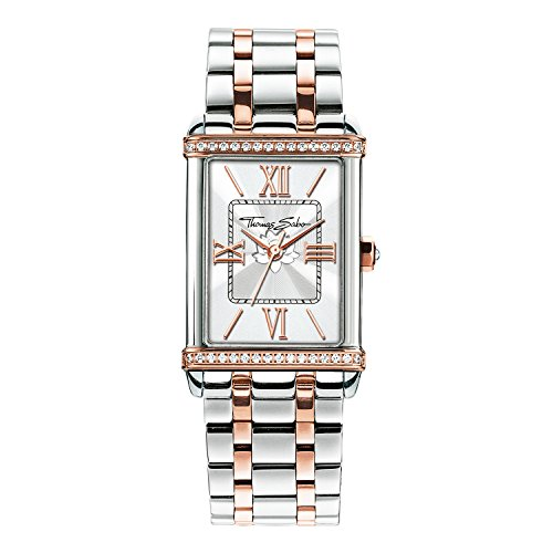 Thomas Sabo Damen Armbanduhr Watches Analog Quarz Edelstahl WA0232 272 201 32x25mm