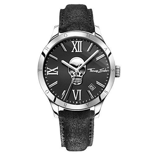 Thomas Sabo Herren Armbanduhr Watches Analog Quarz Leder WA0210 218 203 43mm