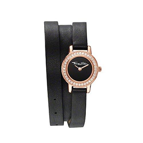 THOMAS SABO Damen rosegoldfarbener Edelstahl Leder 20 mm