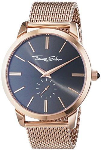 Thomas Sabo Unisex Armbanduhr Analog Quarz Edelstahl WA0177 265 206 42 mm