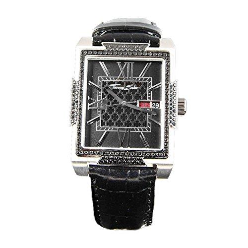 Thomas Sabo WA0038 203 203 Armbanduhr mit schwarzem Zirkonia