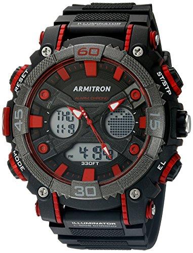Armitron Sport Herren Armbanduhr 20 5108red Analog Digital Schwarz und Rot