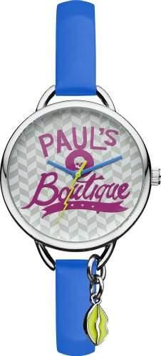 Pauls Boutique Damen-Armbanduhr Analog Quarz Kunststoff PA030BLSL