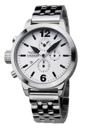 Haemmer Damenuhr Nereus Chronograph, Edelstahl, Silber