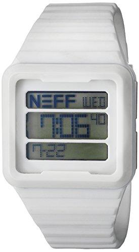Neff Herren nf0234whit Odyssey Digital Display Chinesische Automatische wieß Armbanduhr