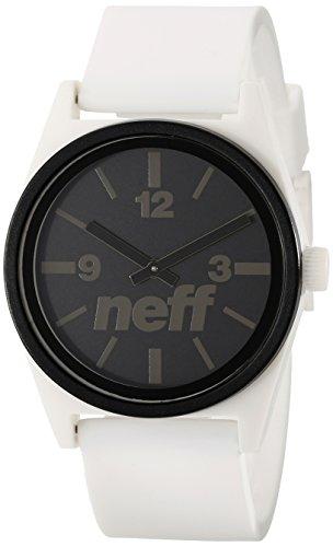 Neff Unisex Armbanduhr Deuce PU-Armband NF0217-WHB White Black