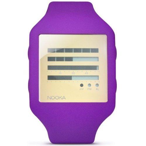 Nooka Unisex-Armbanduhr Digital Kunststoff violett