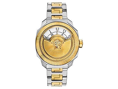 Versace Damenuhr Dylos - Automatik, Edelstahl, Gold/Silber