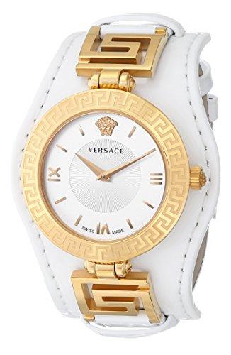Versace VSignature Analog Leder GoldWeiß
