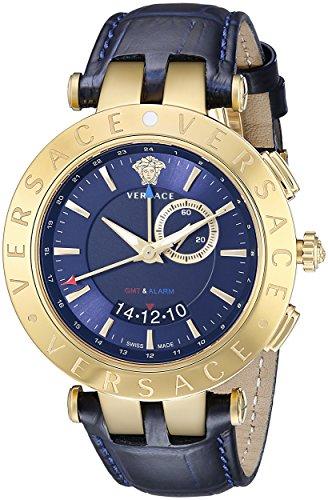 Versace Herrenuhr VRace GMT  Gold/Blau