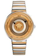 Versace Damenuhr VMetal Analog, Edelstahl, Gold/Silber