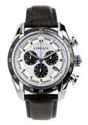 Versace Herrenuhr VRay Chronograph, Leder, Schwarz/Weiß